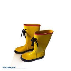 NWOT J. Crew Yellow Rain Boots Size 8
